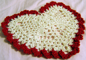 Filet Crochet Heart